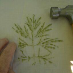 Paper Making and Leaf Hammering